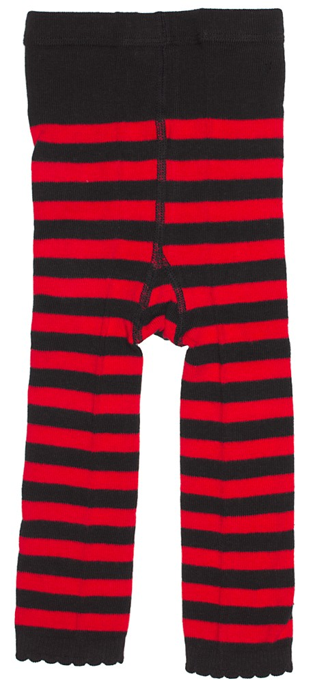 red and black striped leggings